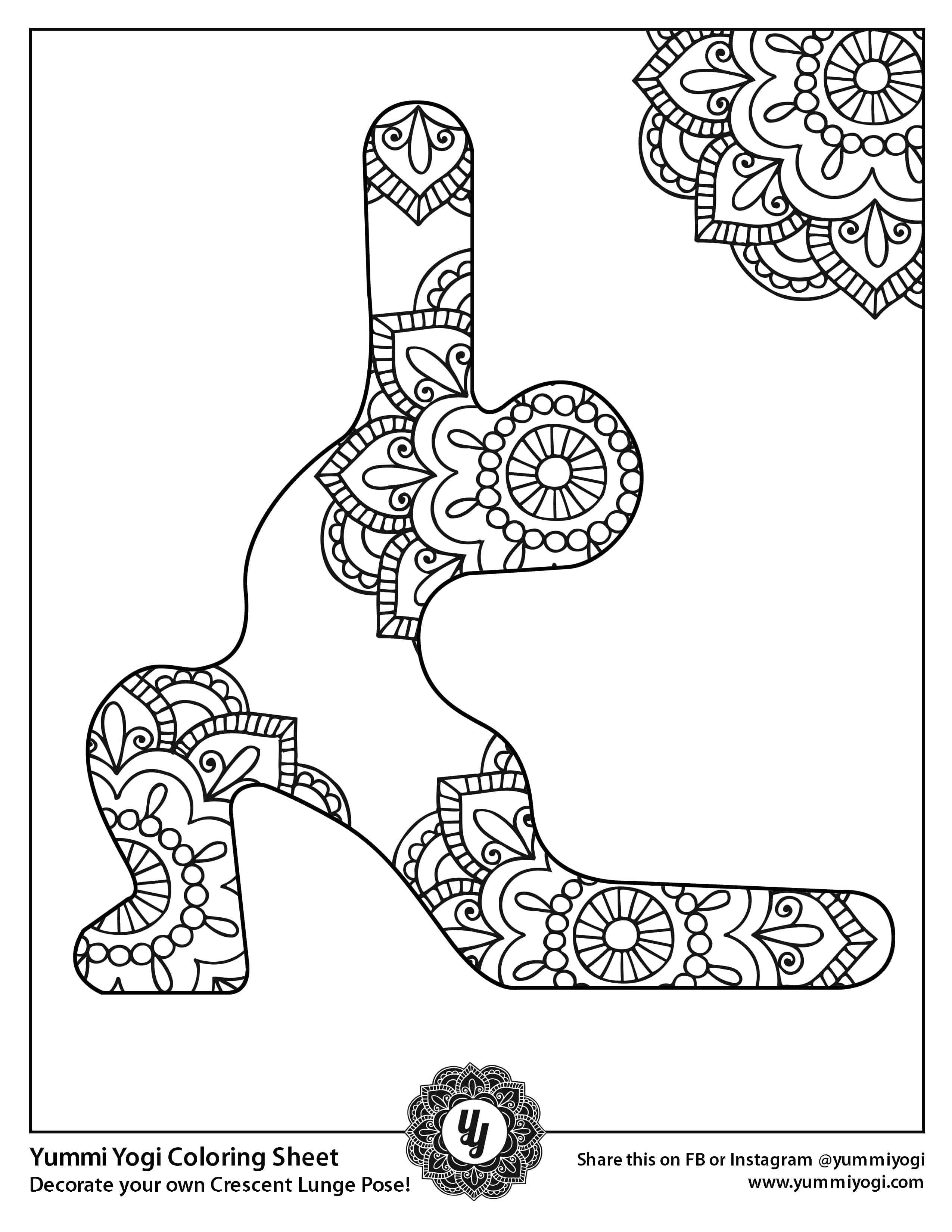 Free Printable Yoga Coloring Page Yummi Yogi
