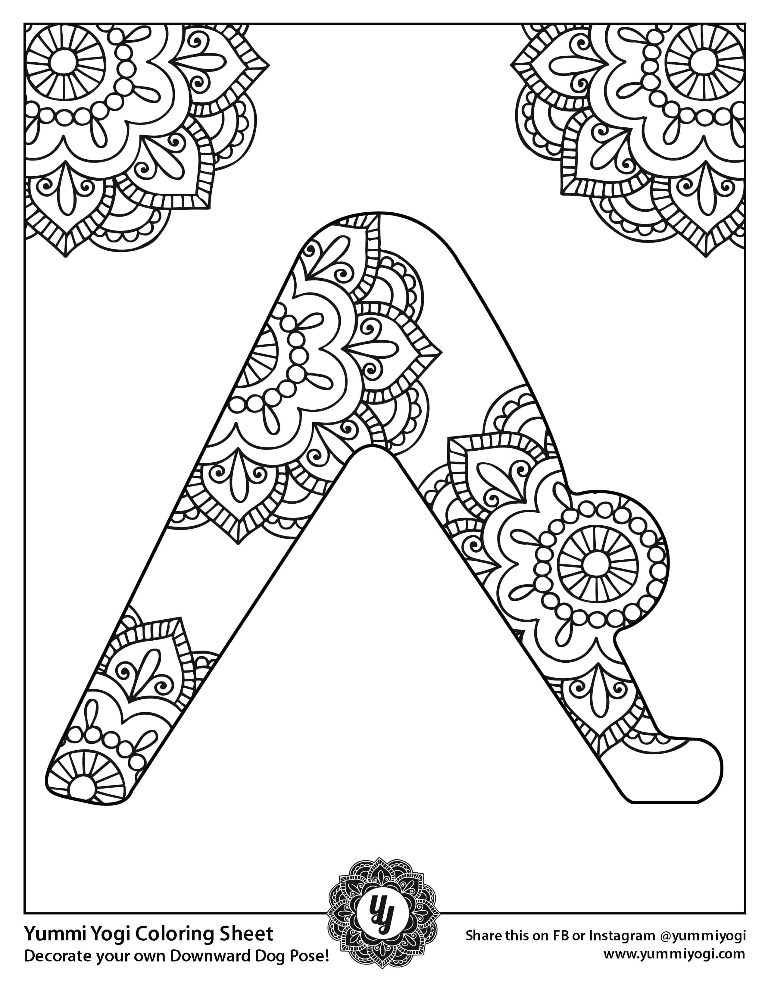 FREE Printable YOGA Coloring Page - Yummi Yogi